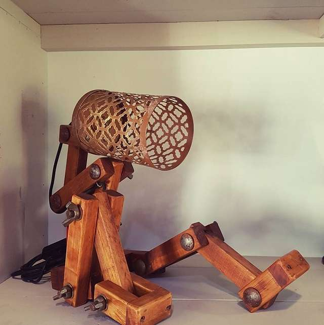 Footloose Inc Wooden Hand Crafted Lamps